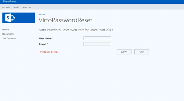 Virto SharePoint Password Reset组件的使用介绍