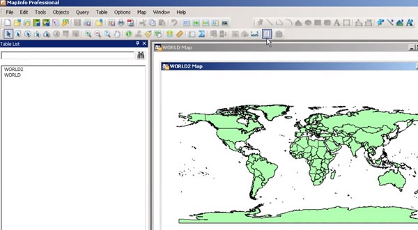 MapInfo Professional v12.0的表结构管理器介绍