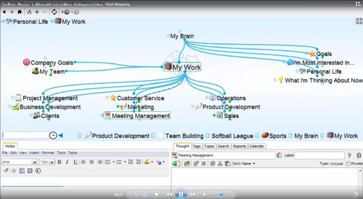 TheBrain8演示:高级信息管理与思维导图