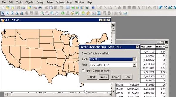 MapInfo Professional如何实现含数据的表阴影