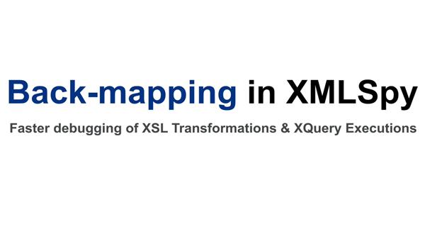 Altova XMLSpy的反向映射功能演示