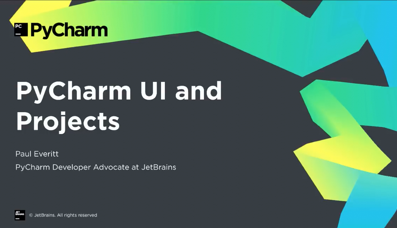 PyCharm入门视频教程:2-8 UI和项目