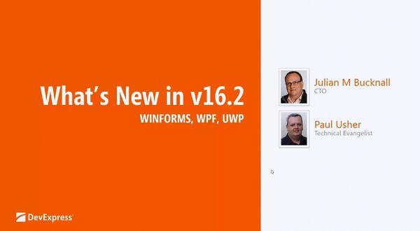 DevExpress v16.2新功能:Windows平台新功能