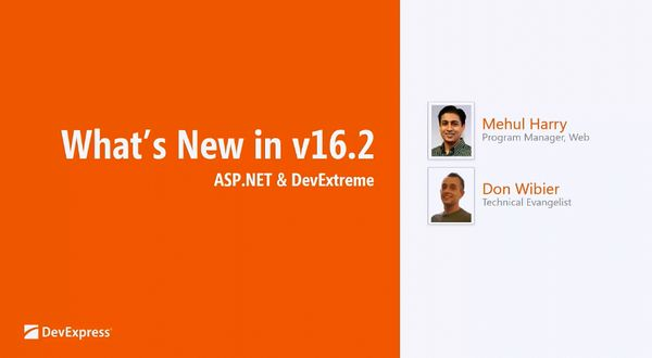 DevExpress v16.2新功能:Web平台新功能