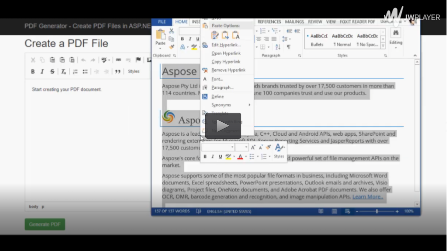 使用Aspose.PDF for .NET在ASP.NET PDF Creator中创建PDF文件