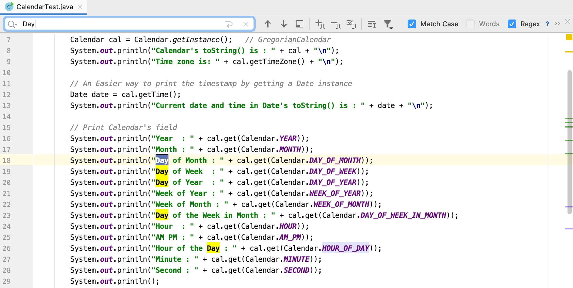 Java开发工具IntelliJ IDEA使用源代码系列教程(四):在文件中搜索目标