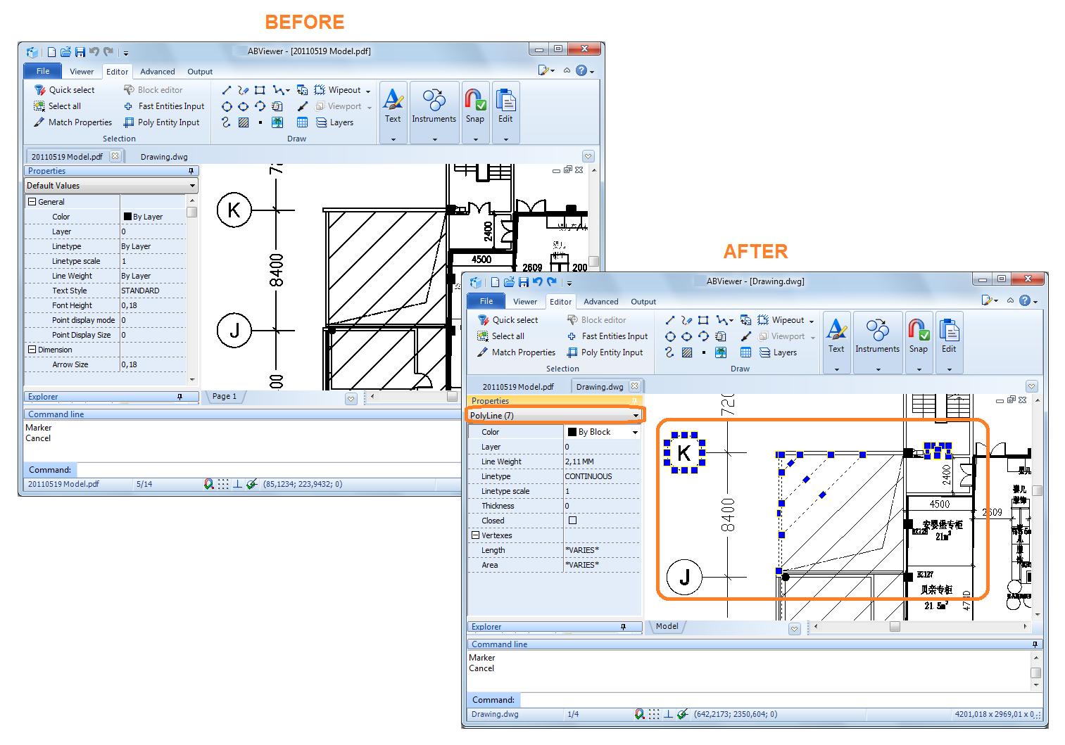 通用CAD图纸处理软件ABviewer2020最新格式转换教程:将页面转换为DWG/DXF文件格式