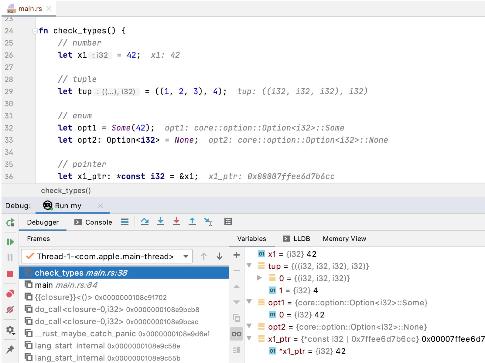 Clion教程:IntelliJ Rust的新增功能