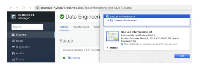 Cloudera Manager用户界面