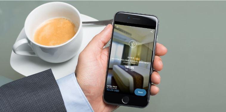 旅行者可以通过 HotelQuickly 应用快速预订客房