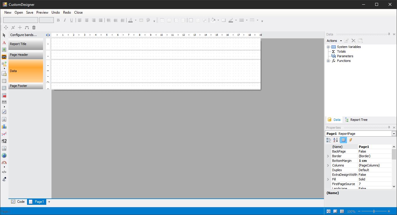 如何在项目中定制你的Fastreport报表设计器