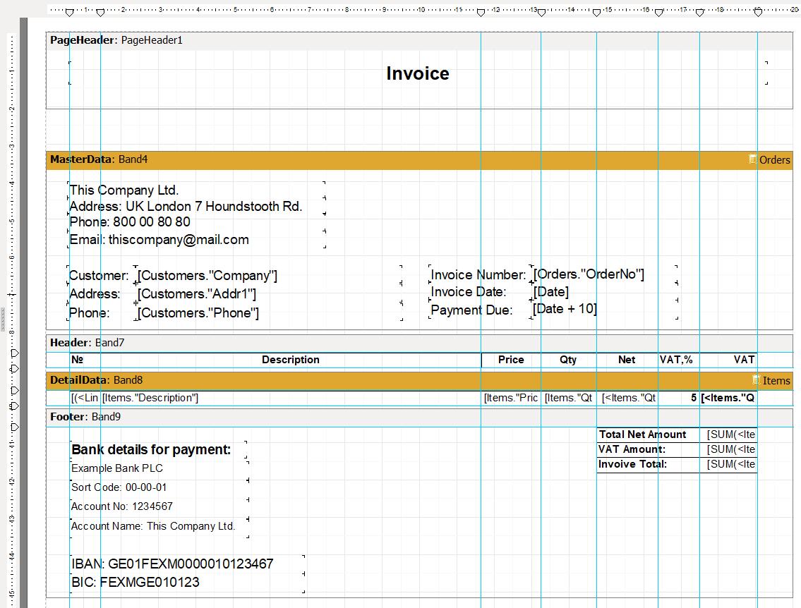 可视化报告生成器FastReport VCL功能指南:从Delphi应用程序创建发票