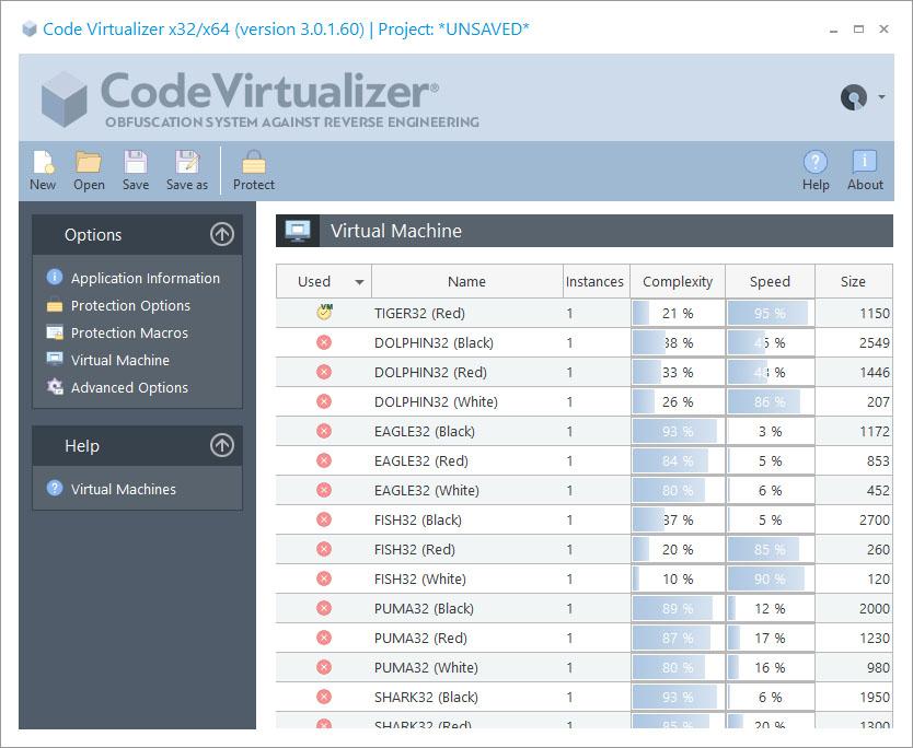代码混淆系统Code Virtualizer虚拟机设置详解