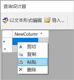 """""""在查询设计器中输入数据""""的屏幕截图。"""
