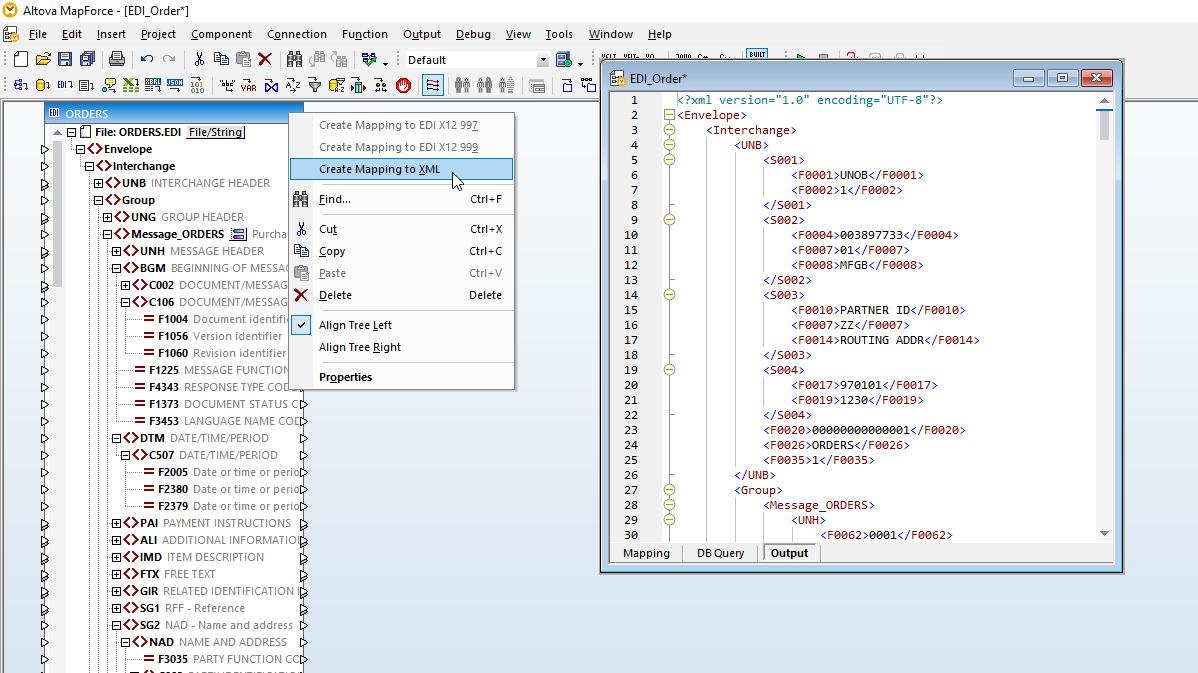 一键式EDI到XML