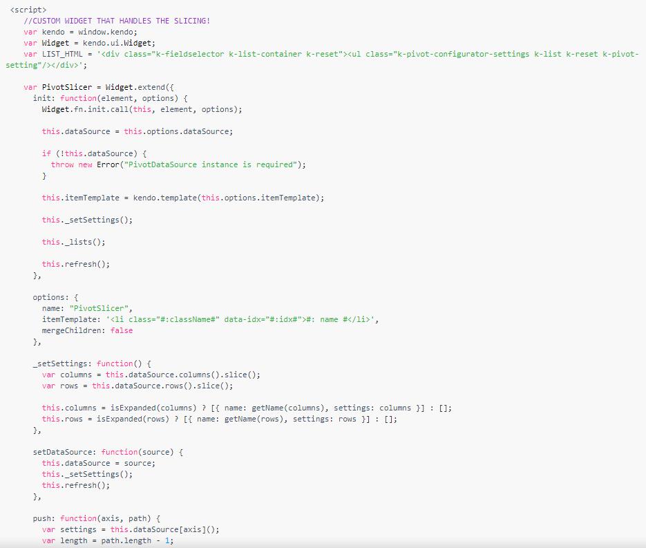 Kendo UI for jQuery数据管理使用教程:PivotGrid - 从根开始深入导航