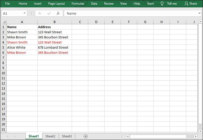 Excel .NET组件Spire.XLS教程: 在C#中删除Excel中的重复行