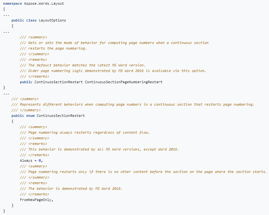 新功能示例演示!Word文档开发处理工具Aspose.Words v21.6发布 丨 附下载