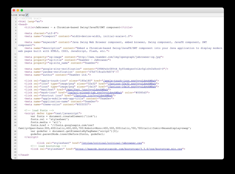 Java浏览器集成控件JxBrowser v7.14新版发布!支持查看页面源代码