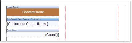 Stimulsoft Reports用户手册:在页面上创建带有列的报告