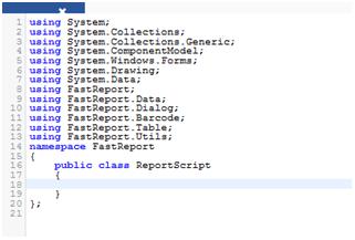 视化在线报表设计器FastReport Online Designer界面功能一览