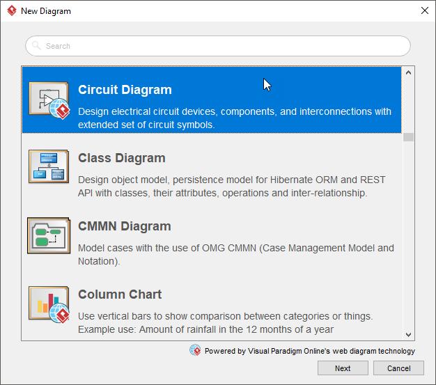 线上图表工具Visual Paradigm教程:如何绘制电路图?