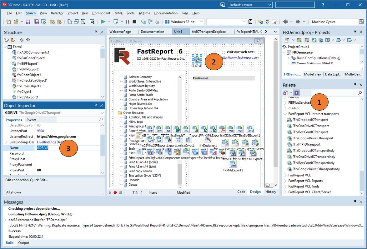 FastReport VCL v2021.3新功能演示:如何添加自己的协议和传输