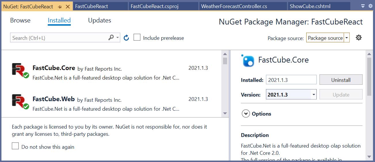 如何在 React 应用程序中使用 FastCube.Net?
