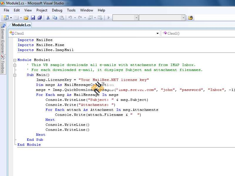 MailBee.NET Objects界面预览: