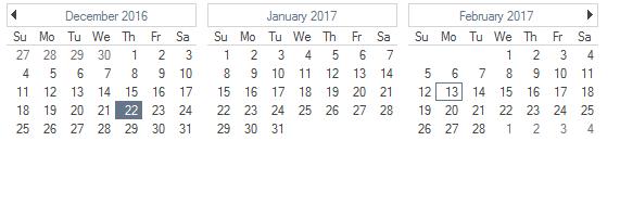 ComponentOne CalendarView