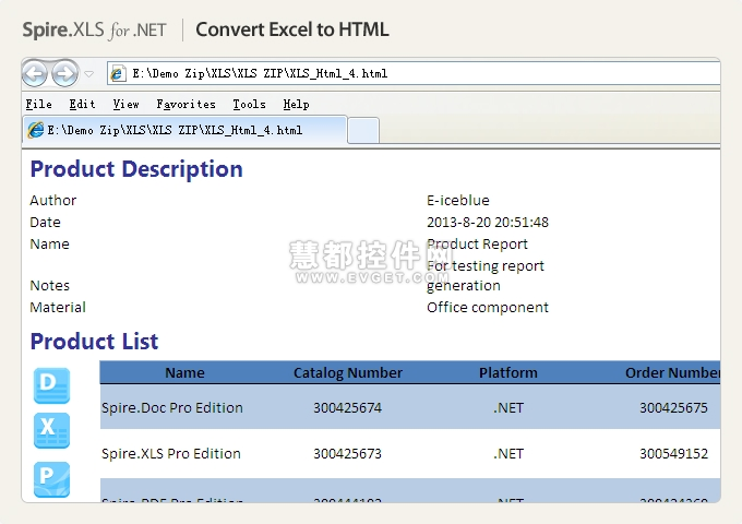 Spire.XLS for .NET效果预览