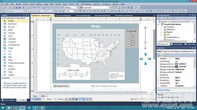 ActiveReports 8新增地图控件