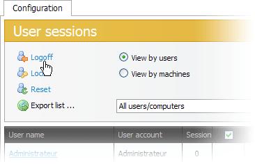 UserLock网页浏览界面