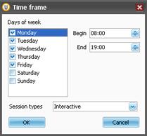 UserLock登录时间限制界面