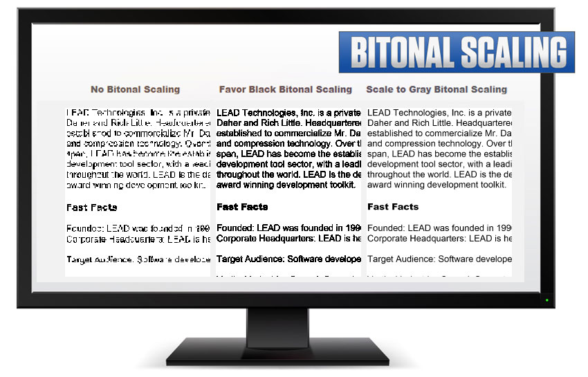 Bitonal Image Scaling