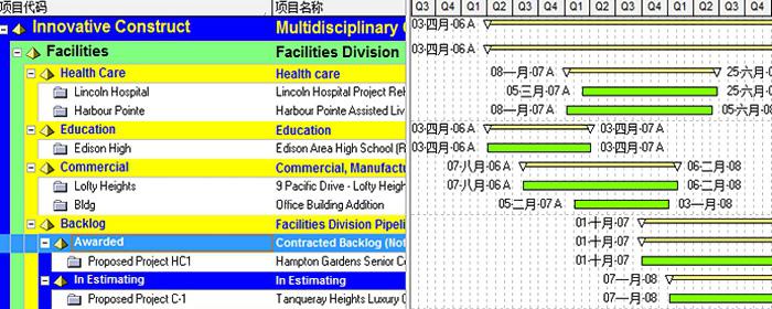 P3e/c类似的多项目视图-项目管理相关系统/功能开发