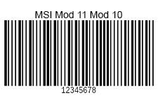 MSI-Modulo11-Modulo10