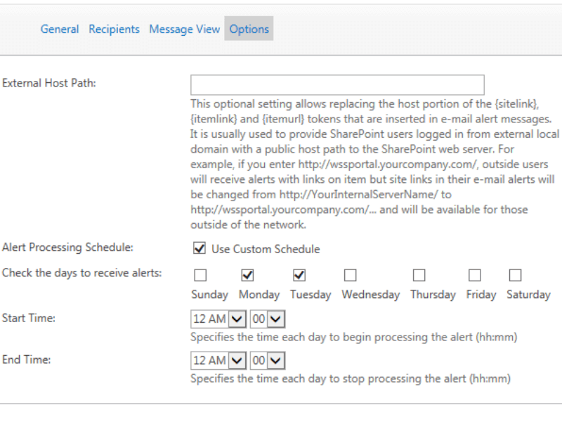 Sharepoint Alert and Reminder