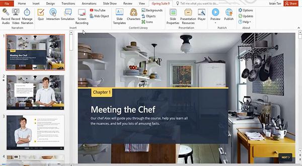 iSpring Suite 9.3功能演示:录制截屏视频并通过视频进行教学