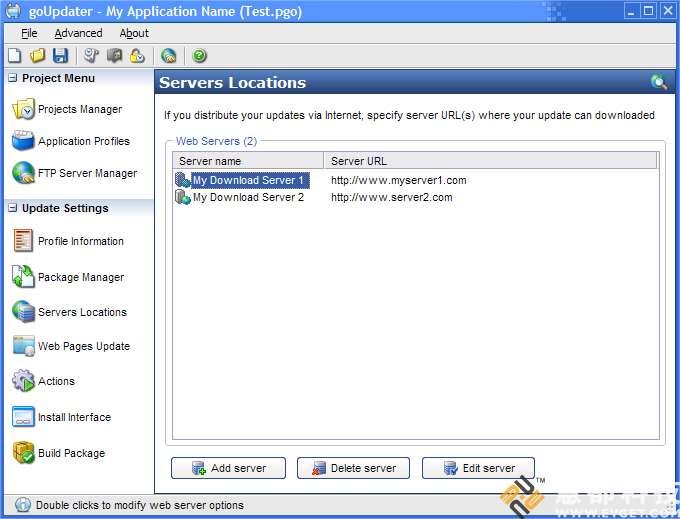 goUpdater界面预览: