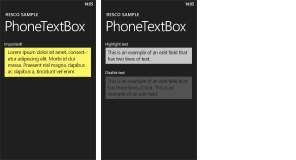 Resco MobileForms Toolkit - PhoneTextBox大图