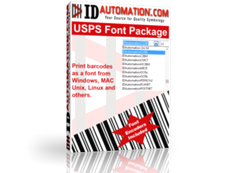 USPS Postnet & Intelligent Mail Barcode Fonts