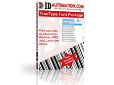 TrueType BARCODE, MICR and OCR Font Advantage Package