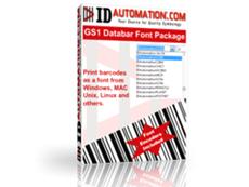 DataBar Barcode Fonts