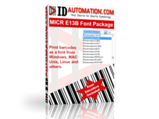 MICR E13B Font Advantage Package