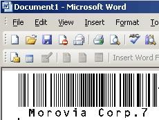 POSTNET/PLANET Fontware