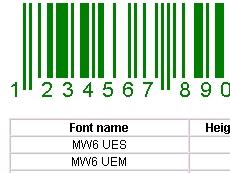 UPC/EAN/JAN Fontware