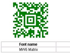 2D Aztec Fontware