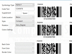 PDF417 ASP Component