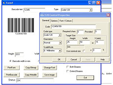 Active-X barcode controls